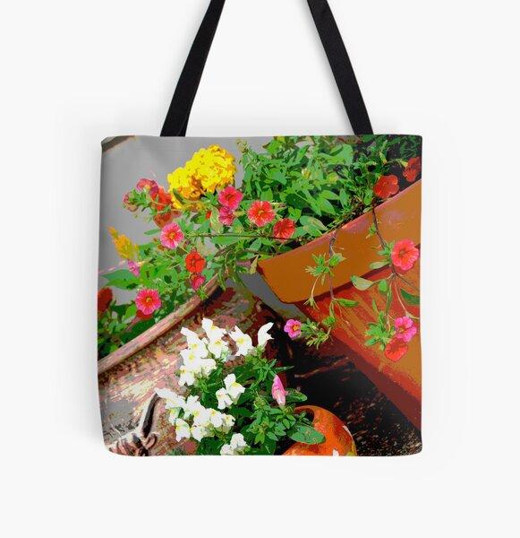 Flower Pots All Over Print Tote Bag