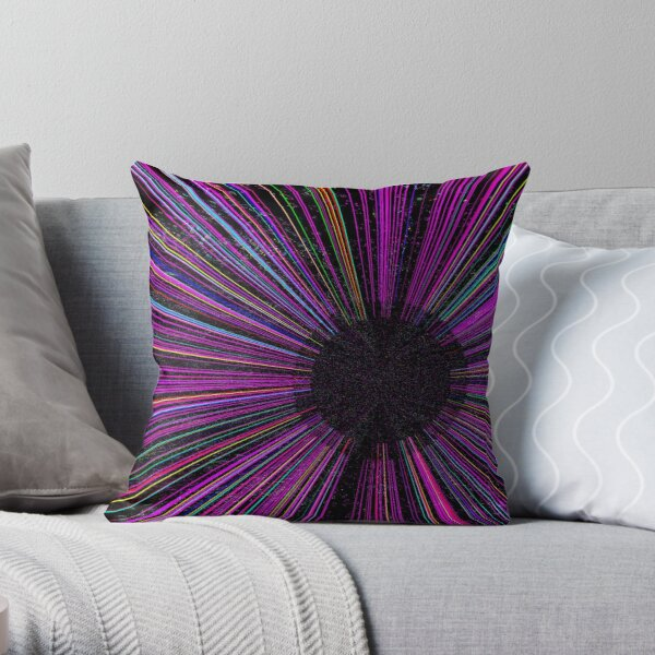 Color in Space Throw Pillow