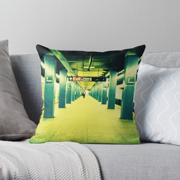 Subway Platform Throw Pillow