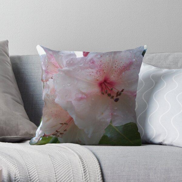 Rhododendron blush Throw Pillow