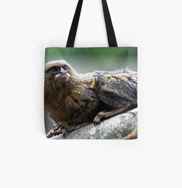 Pygmy Marmoset All Over Print Tote Bag