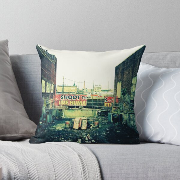 Shoot the Live Human Throw Pillow