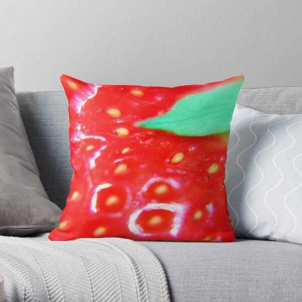 Strawberry Obsession Throw Pillow