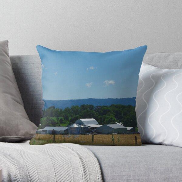 Virginia Blue Throw Pillow