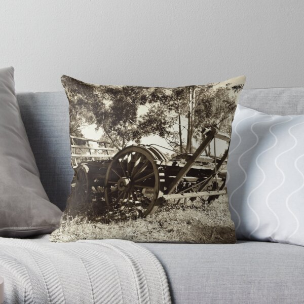 Old Wagon II Throw Pillow