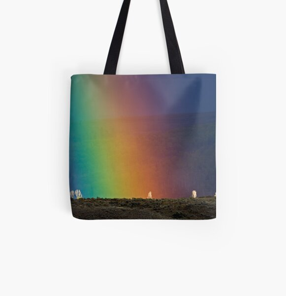 Rainbow Air, Ghost Trees All Over Print Tote Bag