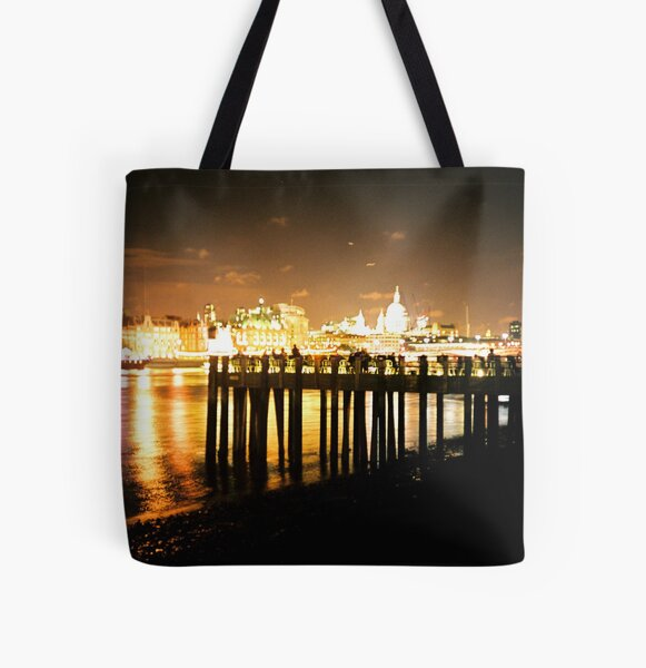 Southbank By Night All Over Print Tote Bag