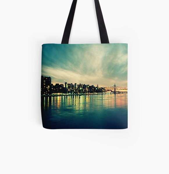 Hudson Cityscape All Over Print Tote Bag