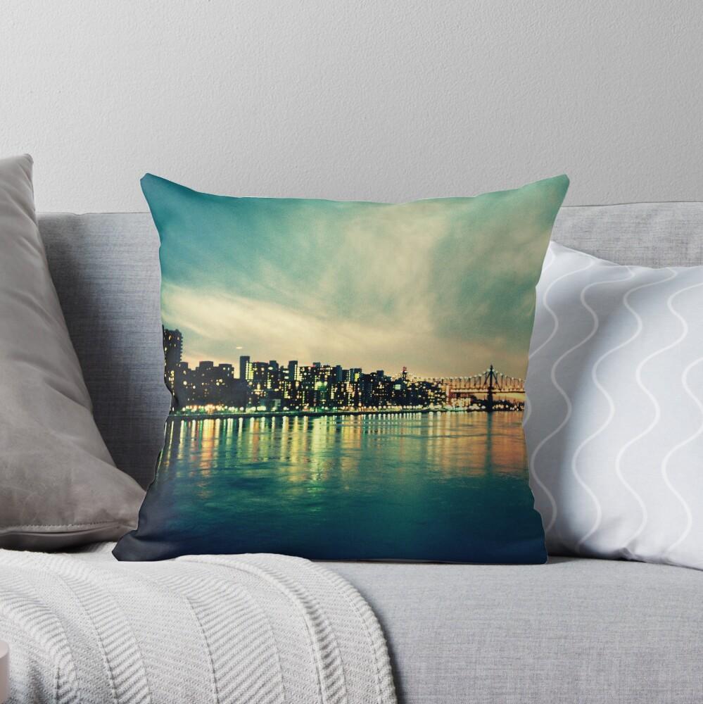 Hudson Cityscape Throw Pillow