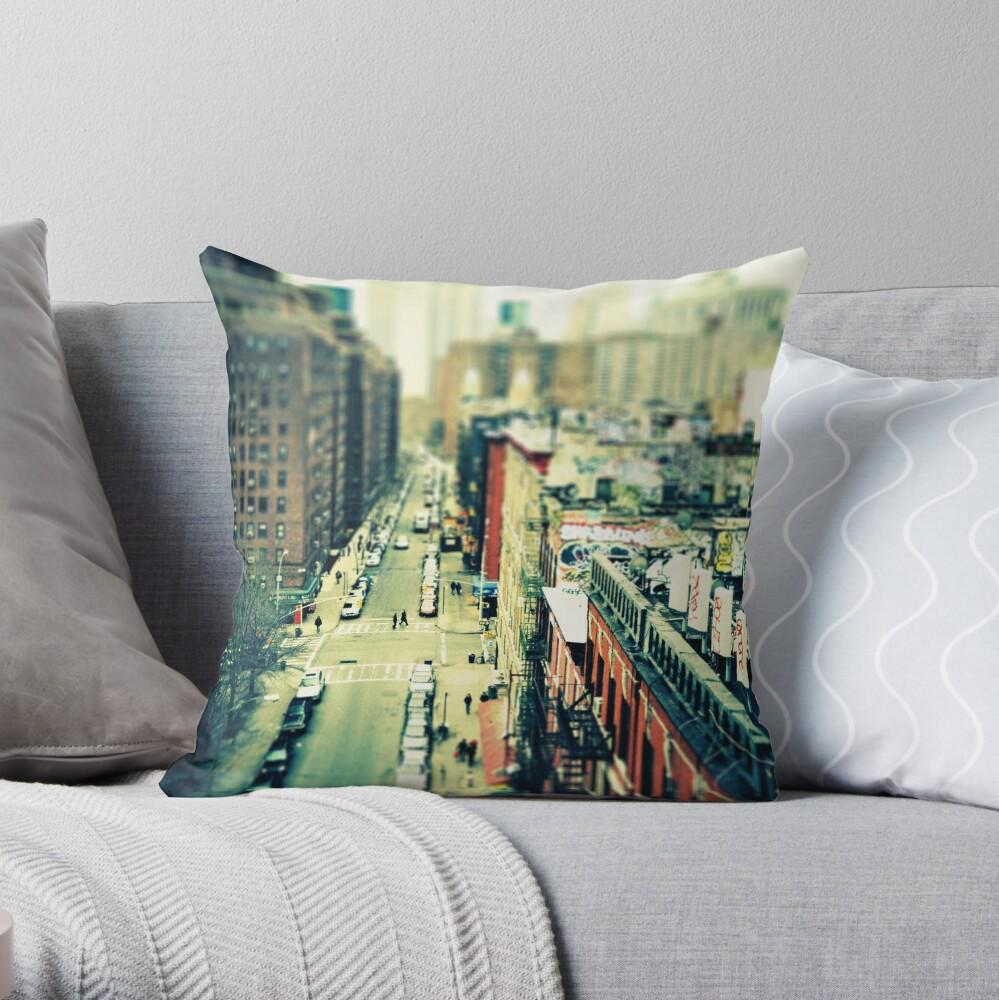 Chinatown Tilt-Shift Throw Pillow