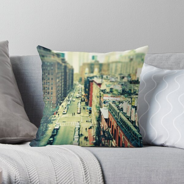 Chinatown Tilt-Shift Throw Pillow