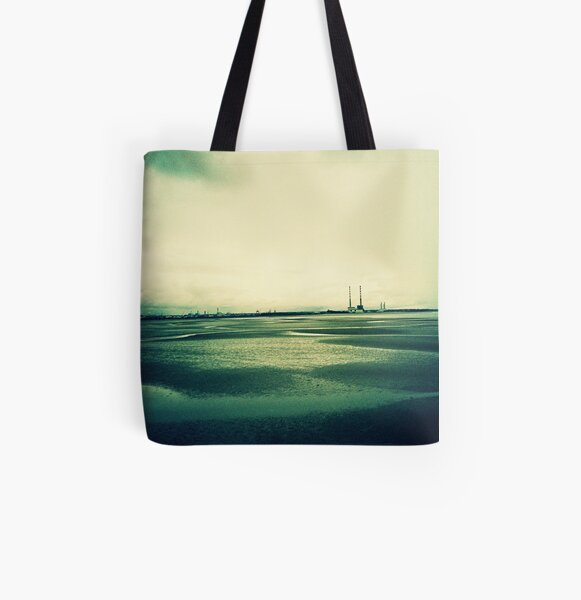 Sandymount at Low Tide All Over Print Tote Bag