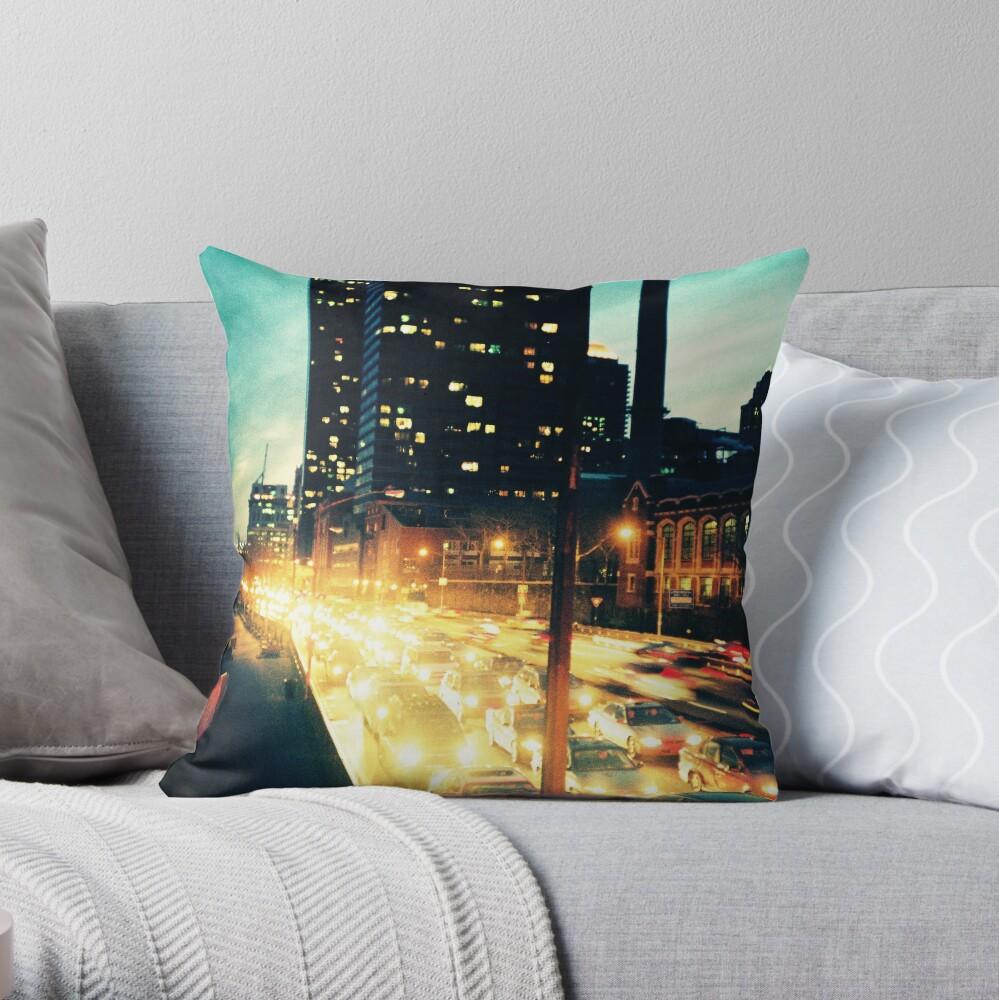 Manhattan Freeway Throw Pillow