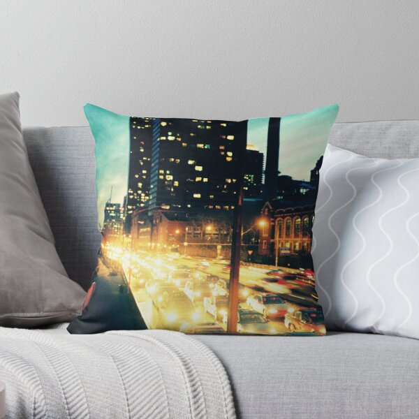 Manhattan Freeway Throw Pillow