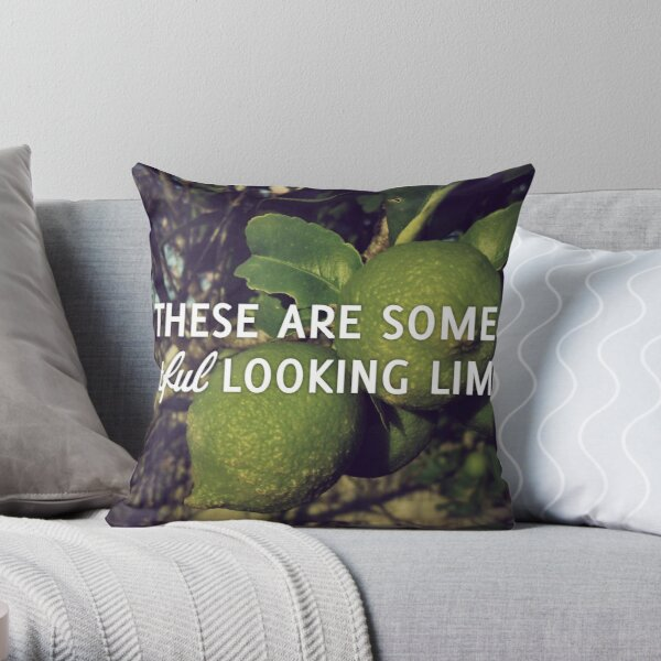 Wistful Looking Limes Throw Pillow