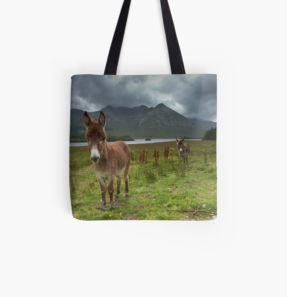 Donkey All Over Print Tote Bag
