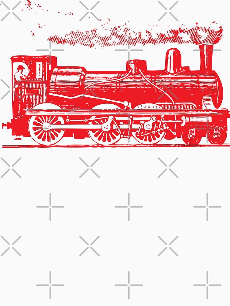 Vintage European Train A1  RED (127) by cartoon