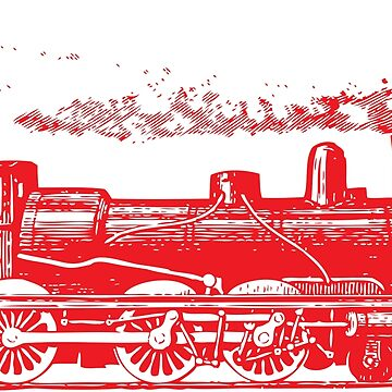 Vintage European Train A1  RED (127) by cartoon