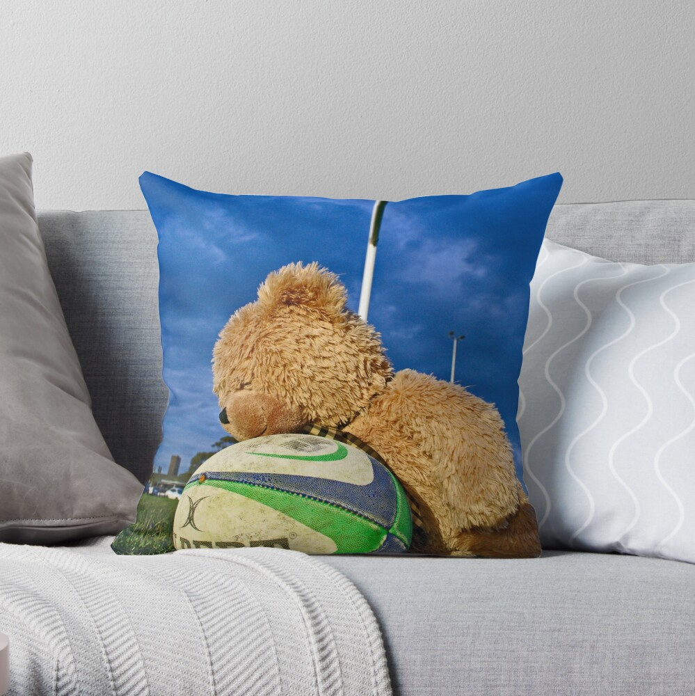 Bear Balls Throw Pillow