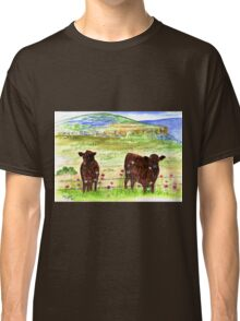 Cows in the field Classic T-Shirt