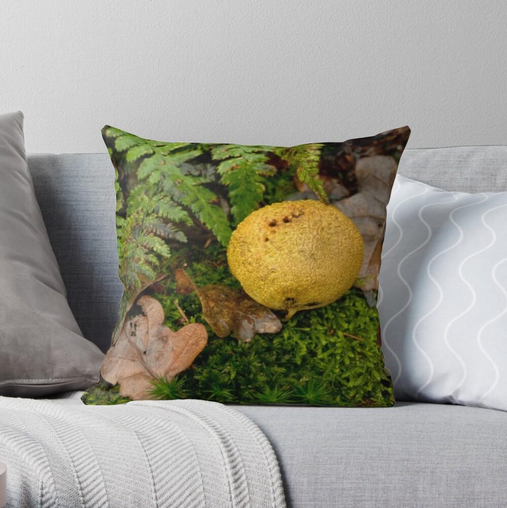 Yellow Potato Mushroom Throw Pillow