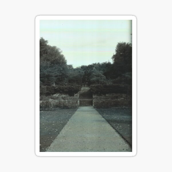 Garden View // Cold Aesthetic [Glitch] Sticker