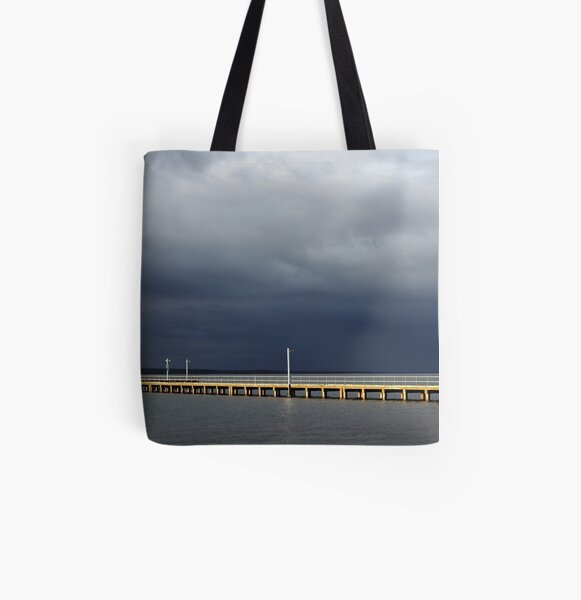 Gone Fishing All Over Print Tote Bag