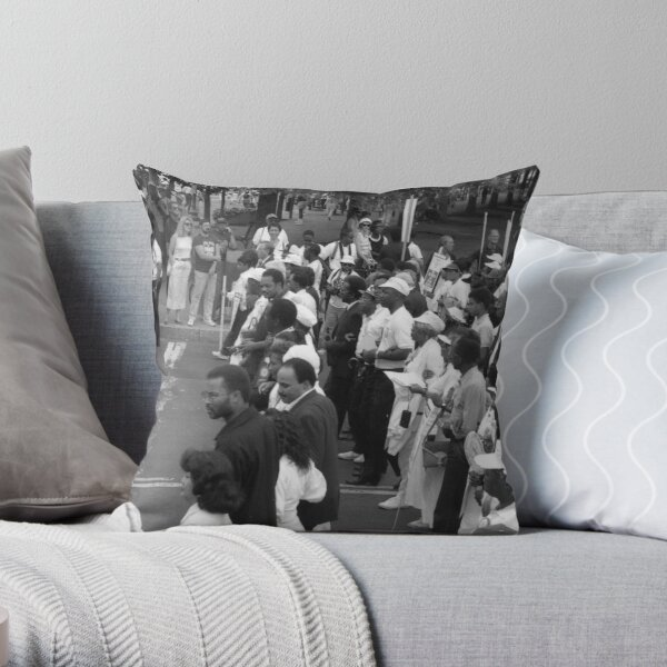Marching towards Statehood Plate #1 Throw Pillow
