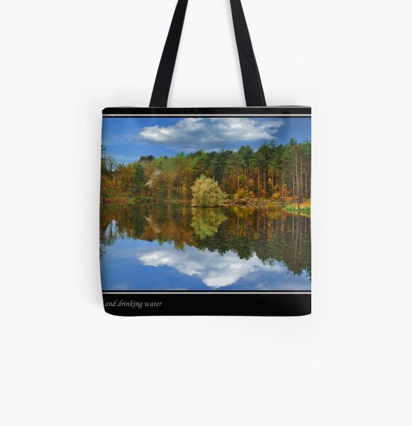 Woodland and drinking water All Over Print Tote Bag