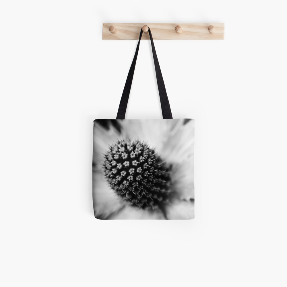 Heart of the White Explosion in Monochrome Tote Bag