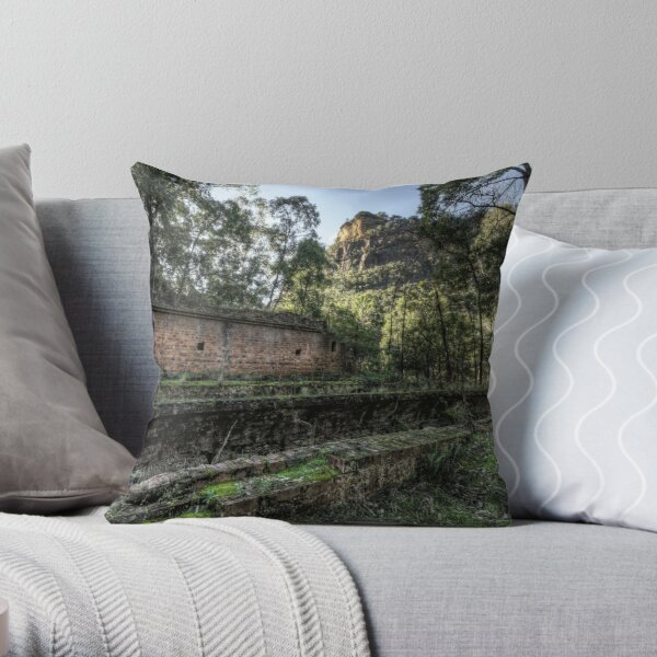 Sandstone Cliffs and Ruins - Newnes - Wollemi National Park, NSW Throw Pillow