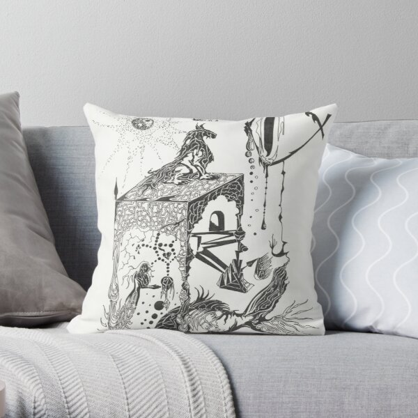 in another dimension Throw Pillow