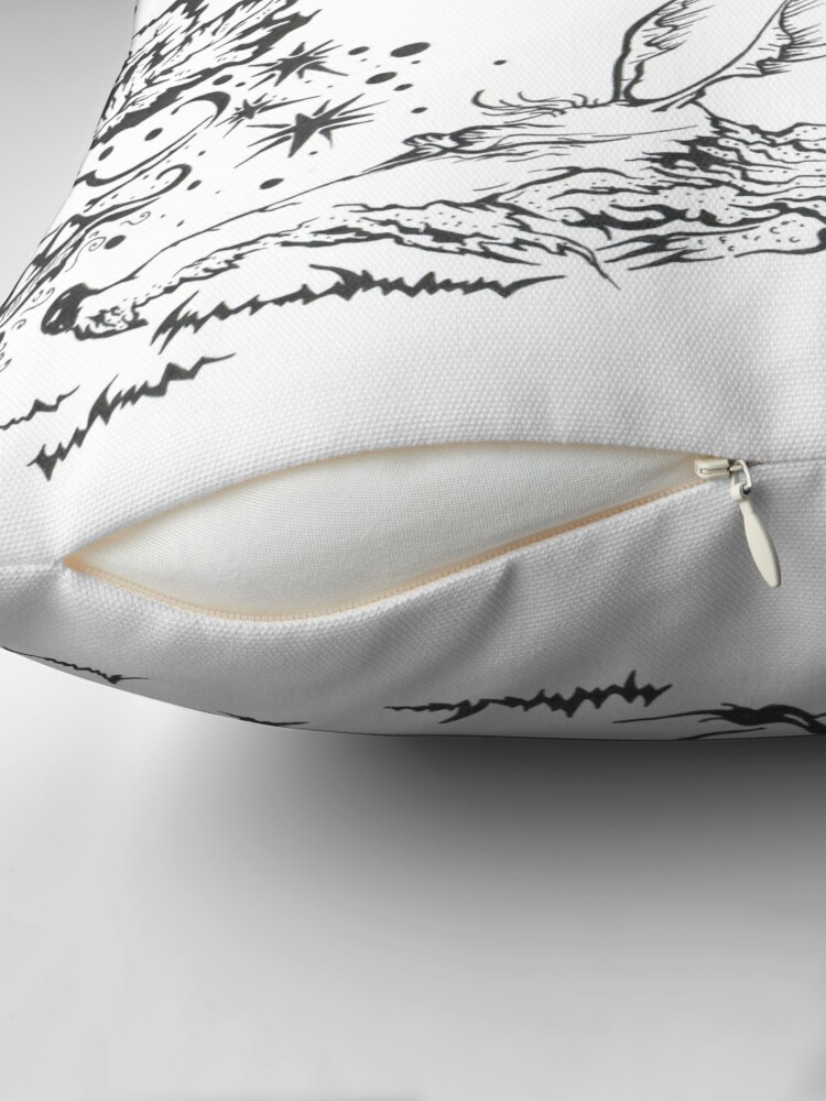 Alternate view of dragon Throw Pillow