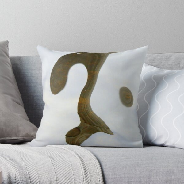 Wooded Water Throw Pillow