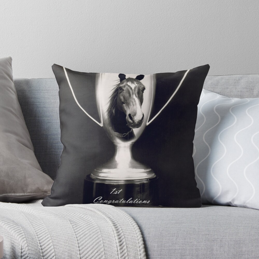 Ist Place Congratulations Throw Pillow