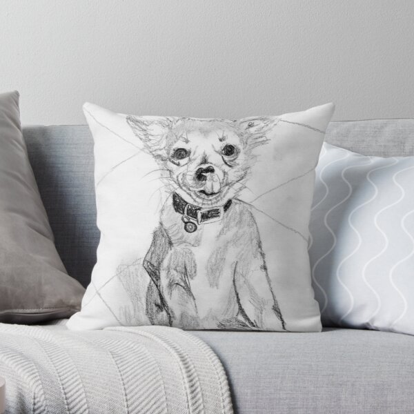 Papillon Pup Throw Pillow