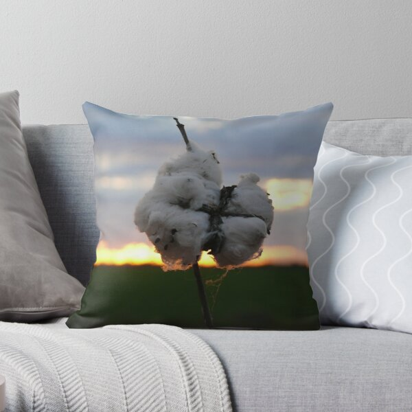 Cotton Fields back home (2) Throw Pillow