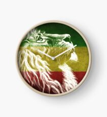 Reloj King Of Judah Rasta Rastafari Rastafari Red Gold Green Lion Camiseta