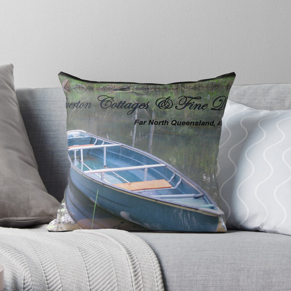 Chilverton Cottages & Fine Dining - Blue  Throw Pillow