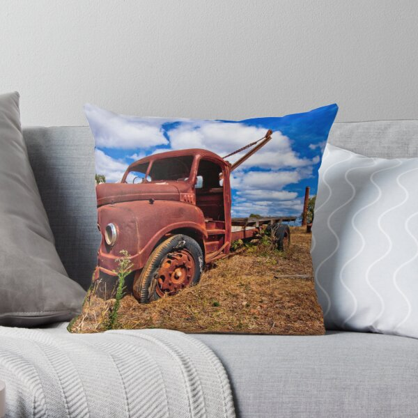 Rusty Austin Throw Pillow