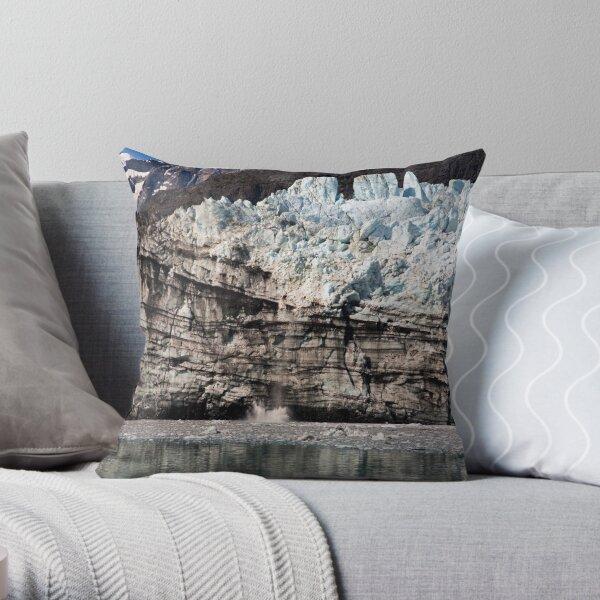 Glacier Calving Throw Pillow