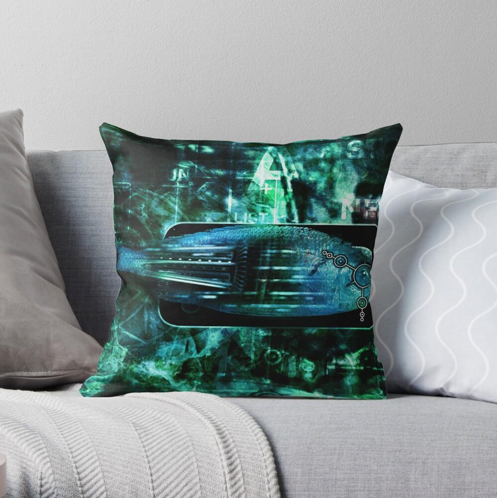 RaZorFish Throw Pillow