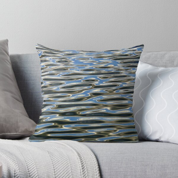 Black and Blue 3 Throw Pillow