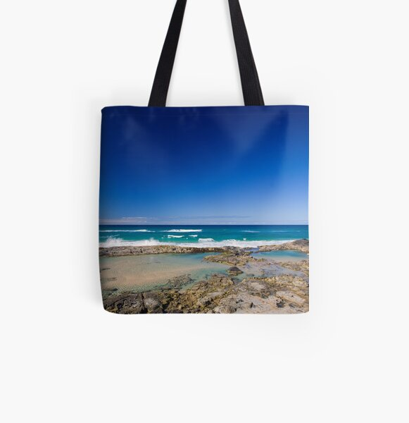 Champagne Pools, Fraser Island All Over Print Tote Bag
