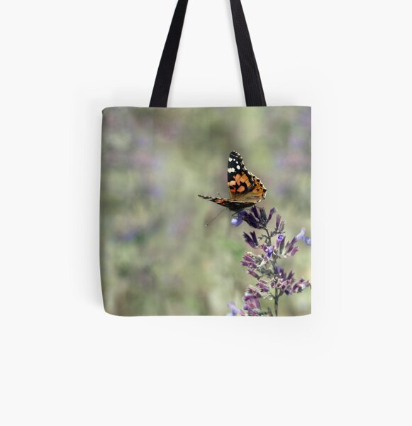 Painted Lady All Over Print Tote Bag