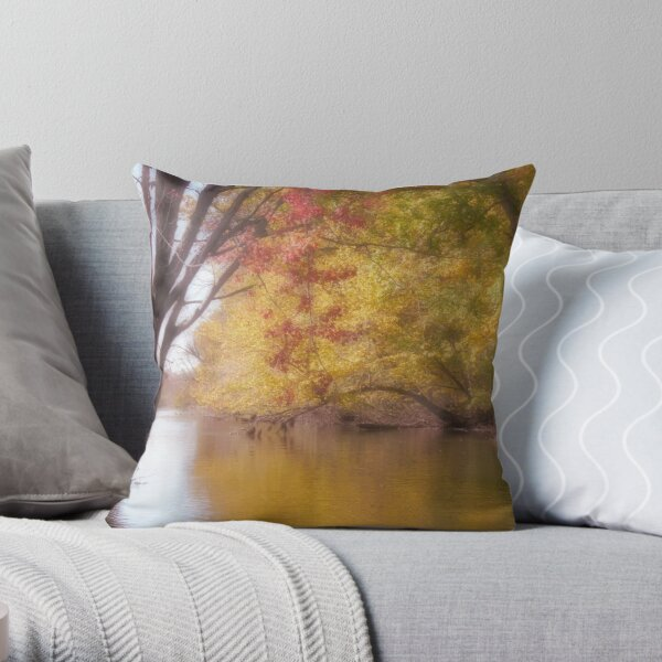 River Tranquility Throw Pillow
