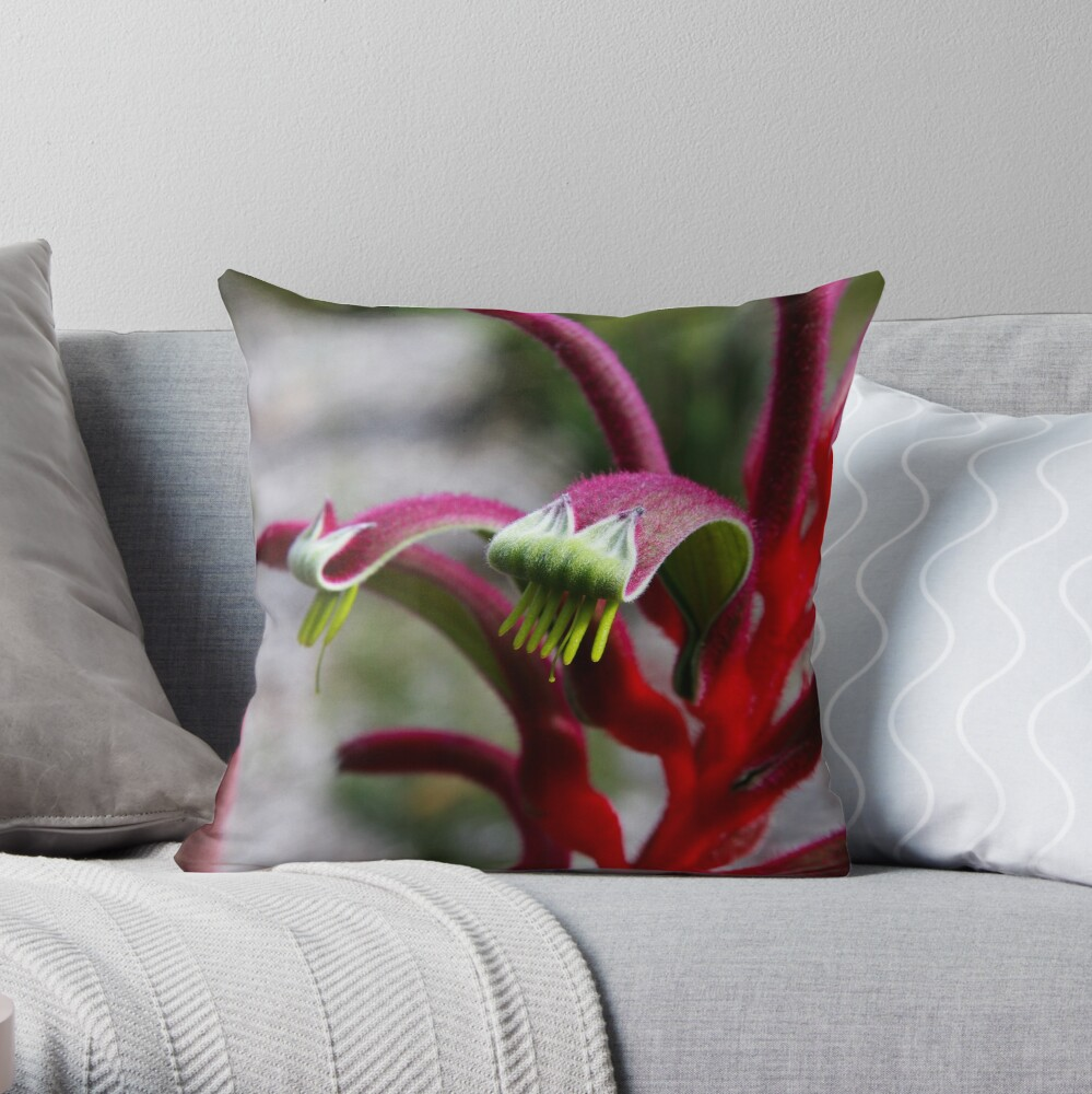 Amazing pink & red Throw Pillow