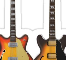 Four Hollow Body Guitars Sticker