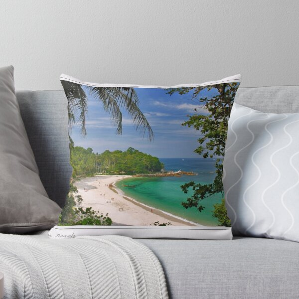 Freedom Beach Throw Pillow
