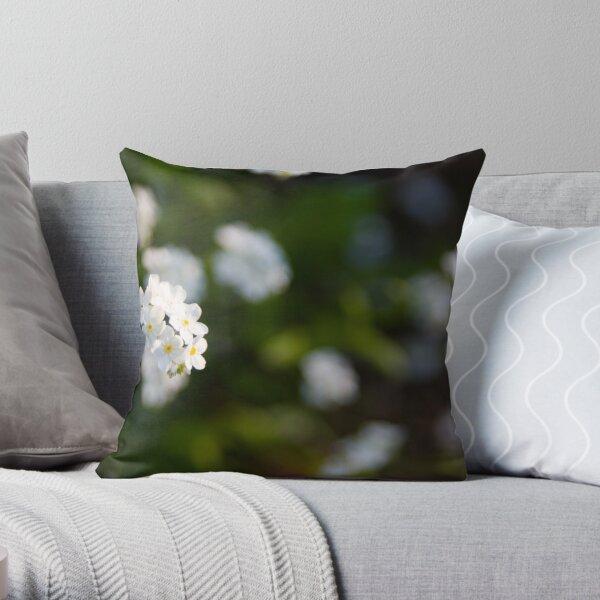 White forget-me-not Throw Pillow
